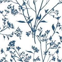 Southport Indigo Delicate Branches Wallpaper