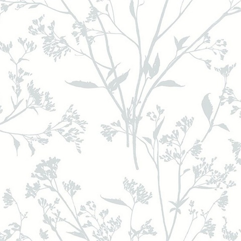 Southport Light Grey Delicate Branches Wallpaper