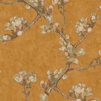 Sprig of Flowering Almond in a Glass Wallpaper
