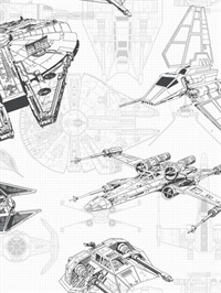 Star Wars Ship Schematic Wallpaper