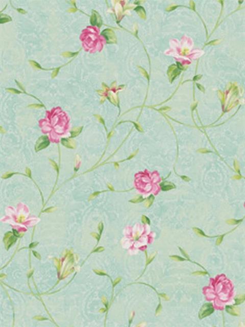 Le jardin wallpaper seabrook designs for Jardin floral design