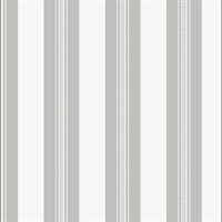 Striped White/Silver Glitter Wallpaper