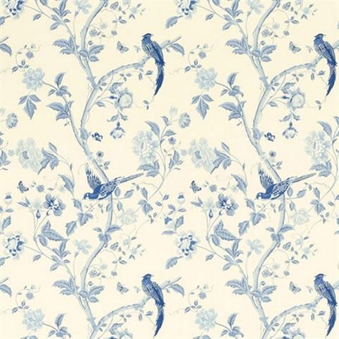 3635715 Summer Palace Royal Blue Floral Wallpaper