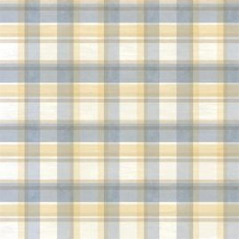 Bbc21536 Blue And Brown Sunday Plaid Wallpaper