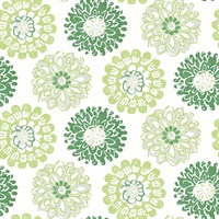 Sunkissed Green Floral Wallpaper