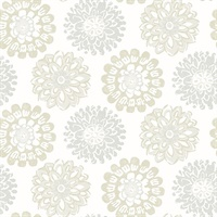 Sunkissed Light Grey Floral Wallpaper