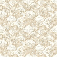 Surfside Beige Shells Wallpaper