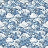 Surfside Blue Shells Wallpaper