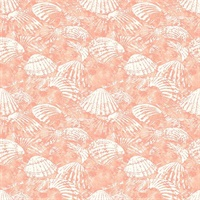 Surfside Coral Shells Wallpaper