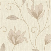 Synergy Gold Floral Trails Wallpaper