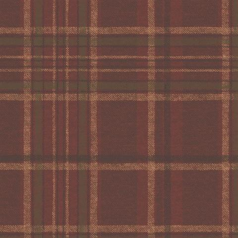 Tot49401 Red Green And Brown Tartan Plaid Wallpaper