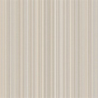 Taupe and Silver Stria Stripe Wallpaper