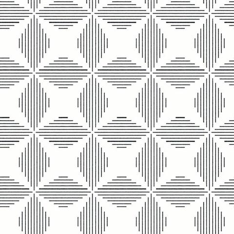 Telestar Black Geometric Wallpaper