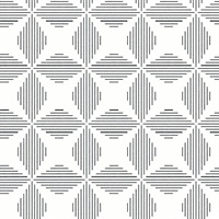 Telestar Black Geometric Wallpaper