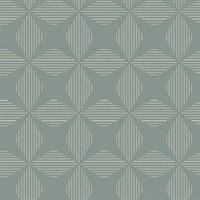 Telestar Teal Geometric Wallpaper