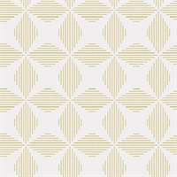 Telestar Yellow Geometric Wallpaper