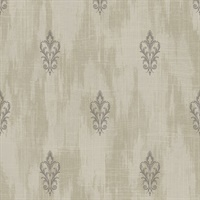 Textured Fleur De Lis Metallic Wallpaper