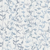 Thea Blue Floral Trail Wallpaper