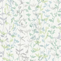 Thea Green Floral Trail Wallpaper