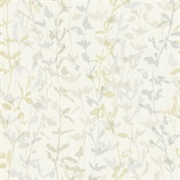 Thea Light Grey Floral Trail Wallpaper