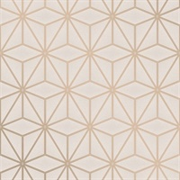 Lisandro Gold Geometric Lattice Wallpaper
