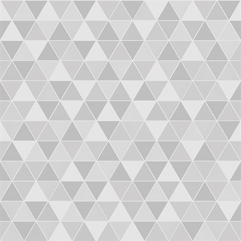 Triangular Light Grey Geometric Wallpaper