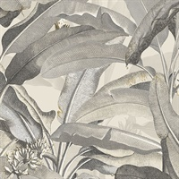 Polynesian Leaves Wallpaper