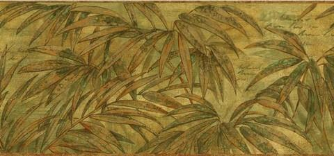 Tropical Leaves - Wallpaper Border