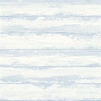 Truro Light Blue Weathered Shiplap Wallpaper