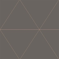 Twilight Taupe Modern Geometric Wallpaper