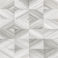 Stratum Grey Geometric Wood Wallpaper