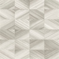 Stratum Taupe Geometric Wood Wallpaper