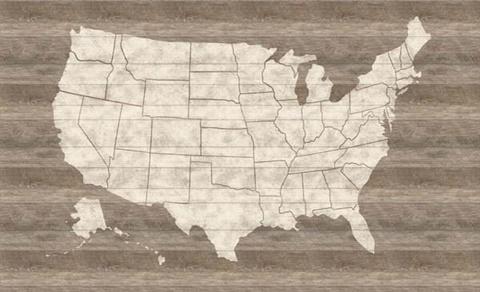 Us Map Mural.Lg1406m United States Map Mural Rustic Living