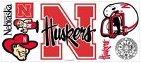 University of Nebraska Peel & Stick Giant Wall Decal w/Hooks