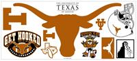 University of Texas Peel & Stick Giant Wall Decal w/Hooks