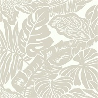 Ashford House Valdivian Wallpaper - Silver