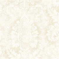 Valentine Damask Wallpaper in Cream & Vanilla