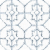 Verandah Light Blue Shibori Wallpaper