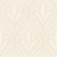 Vivian Off-White Nouveau Damask Wallpaper