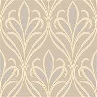 Vivian Grey Nouveau Damask Wallpaper