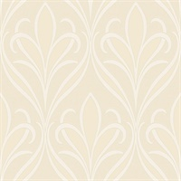 Vivian Neutral Nouveau Damask Wallpaper
