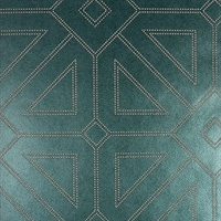 Voltaire Dark Green Geometric Wallpaper