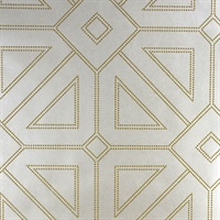 Voltaire Ivory Geometric Wallpaper