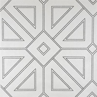 Voltaire Off-White Geometric Wallpaper