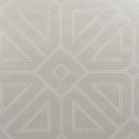 Voltaire Platinum Geometric Wallpaper