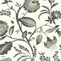 Tropics Watercolor Jacobean Wallpaper