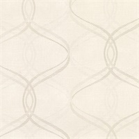 Waters Cream Ogee Wallpaper