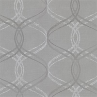 Waters Grey Ogee Wallpaper