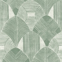 Westport Green Geometric Wallpaper