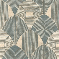 Westport Teal Geometric Wallpaper